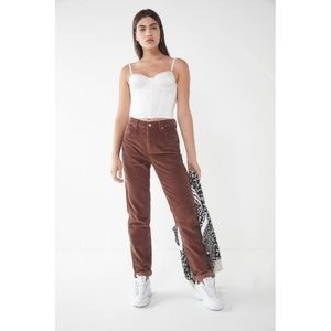 BDG Brown Corduroy Mom Pant